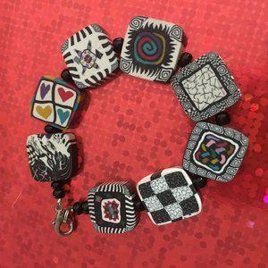 Unique Artsy Clay Bracelet - 122
